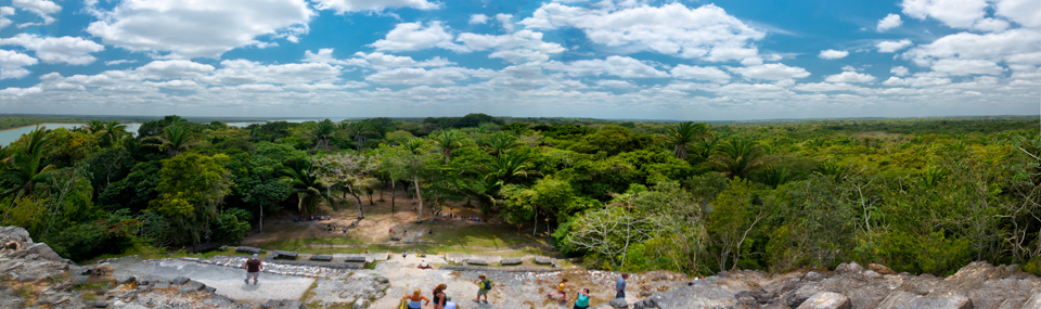 View from atop the High Temple at Lemanai Belize Photo tips and photo guide
