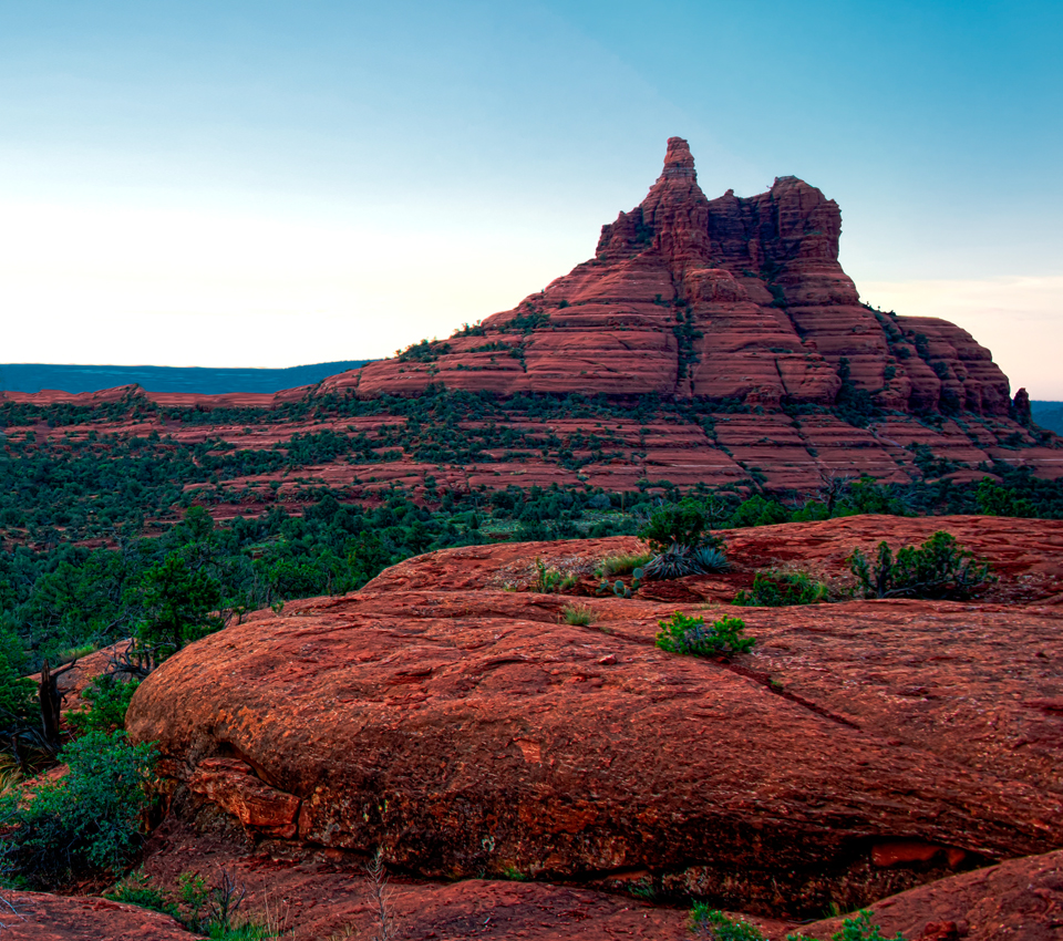 Photo of Sedona's Bell Rock at sunrise