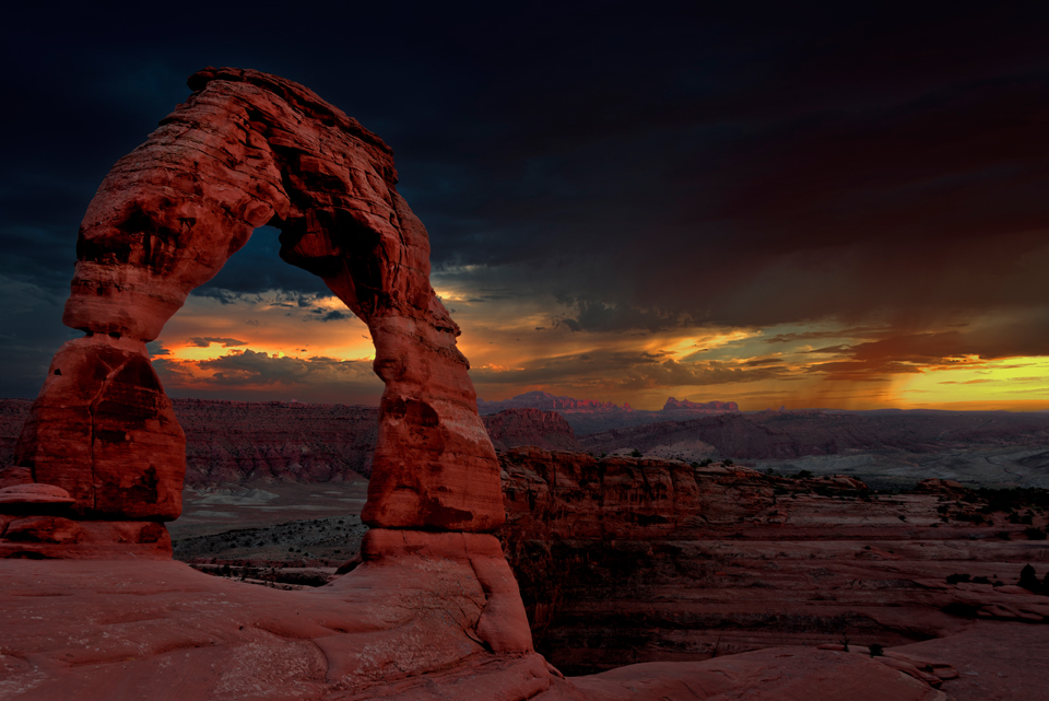 Incredible Sunset at Delicate Arch