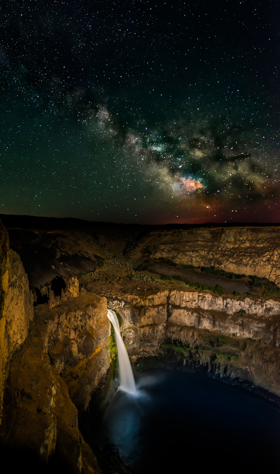 Milky Way over Palouse Falls Washington