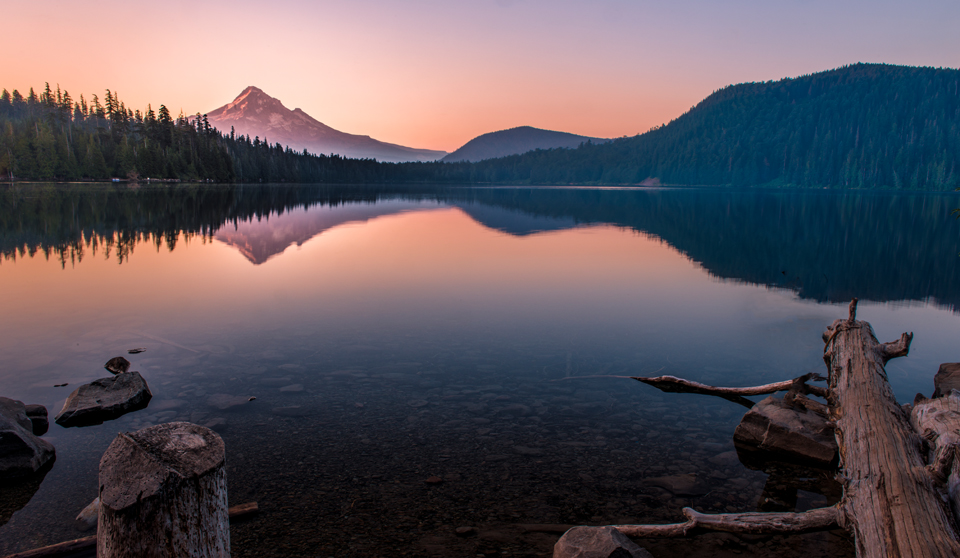 Sunrise at Lost Lake Oregon Mt. Hood