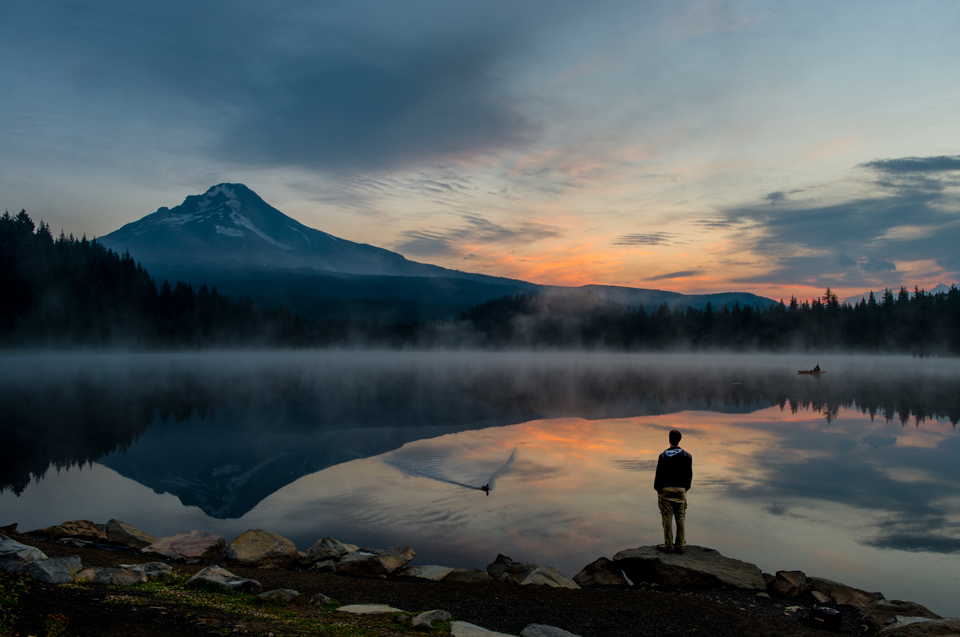 Lake Trillium Oregon Sunrise