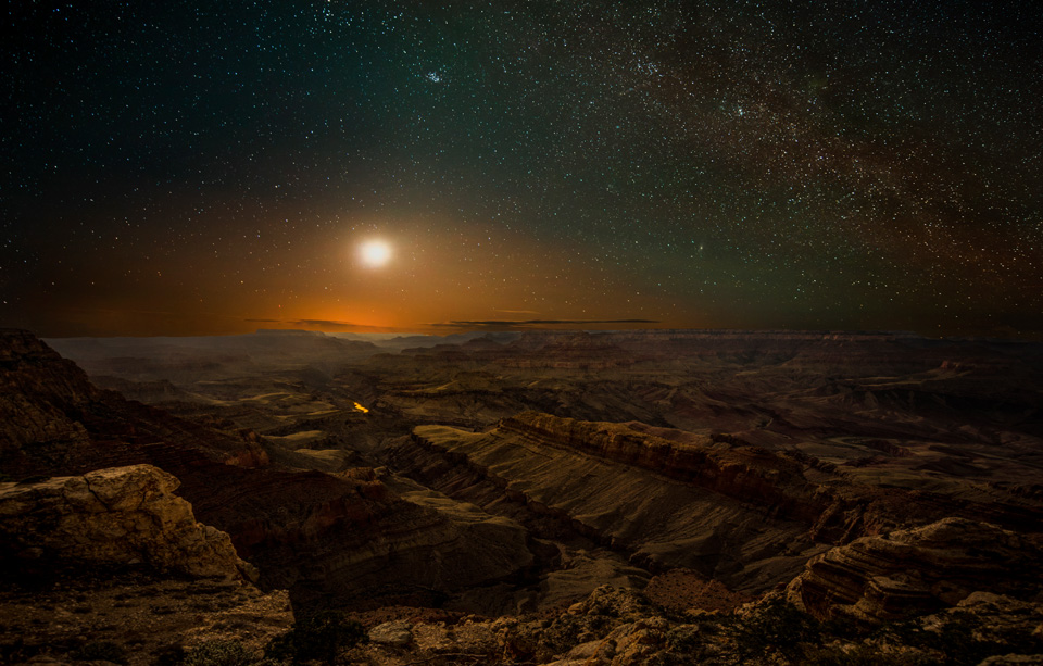 Grand Canyon by moonlight