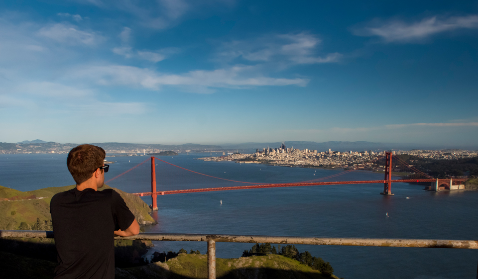 One of the world's truly magnificent vistas: San Francisco seen from Hawk's Hill in the Marin Highlands