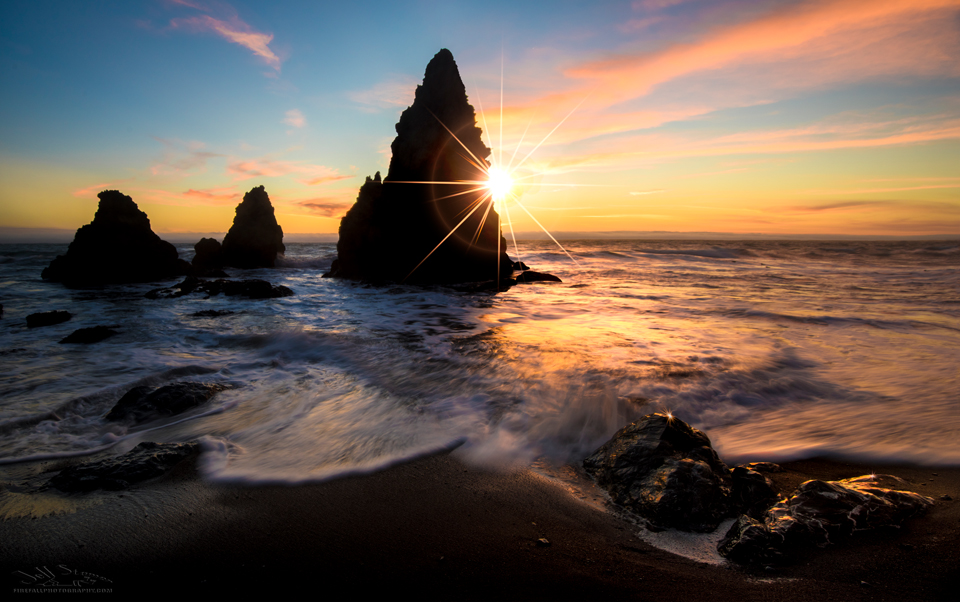 Rodeo Beach Sunset in Marin County