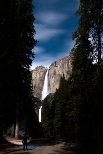 Night photography at Yosemite Falls