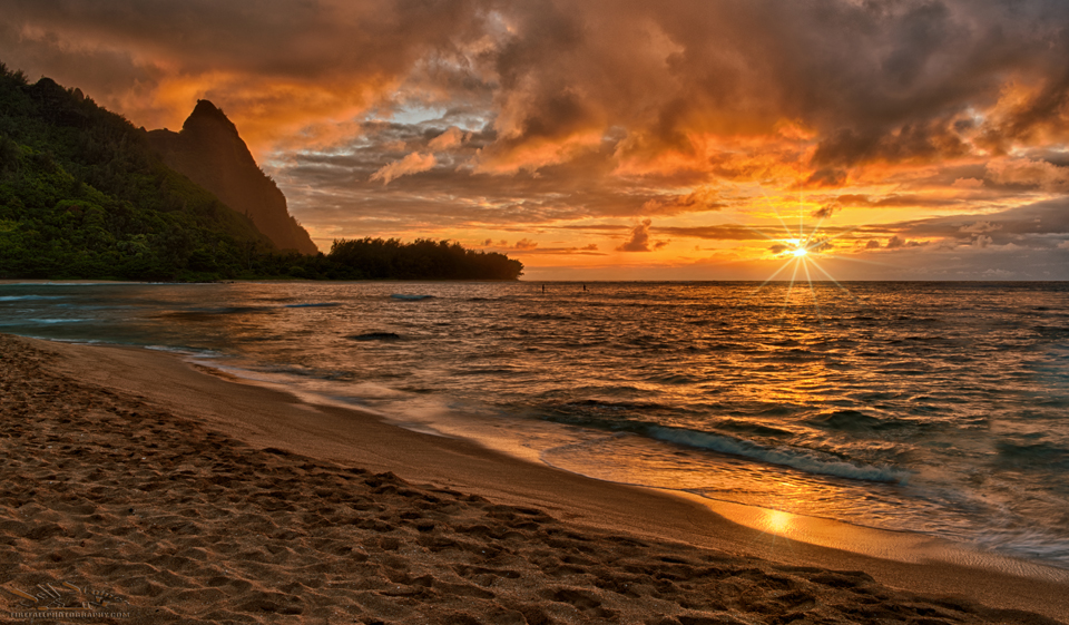 Tunnels Beach, Kauai at sunset Kauai and Big Island Photo Locations