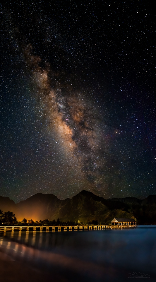 Milky Way over Hanalai Bay, Kauai