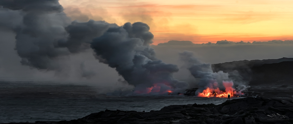 Lava Ocean Entry on the Big Island of Hawaii