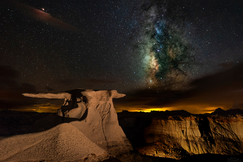 Bisti Badlands Milky Way Night Photography Stone Wings