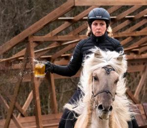 Iceland Winter Photo Tour Recap Beer on horse