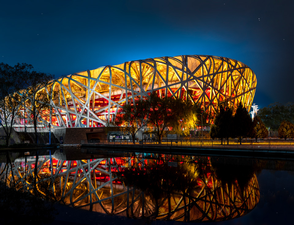 Bejing's Olympic Bird's Nest Night Photography in Beijing, Hangzhou, Shanghai and Guilin