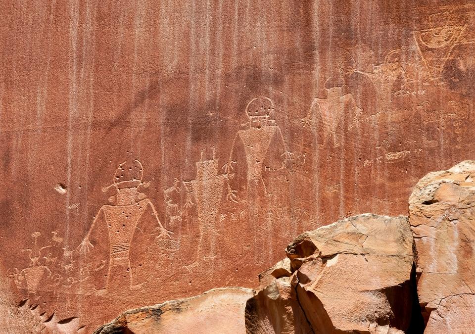 Fremont Petroglyphs near Capitol Reef Visitor's Center
